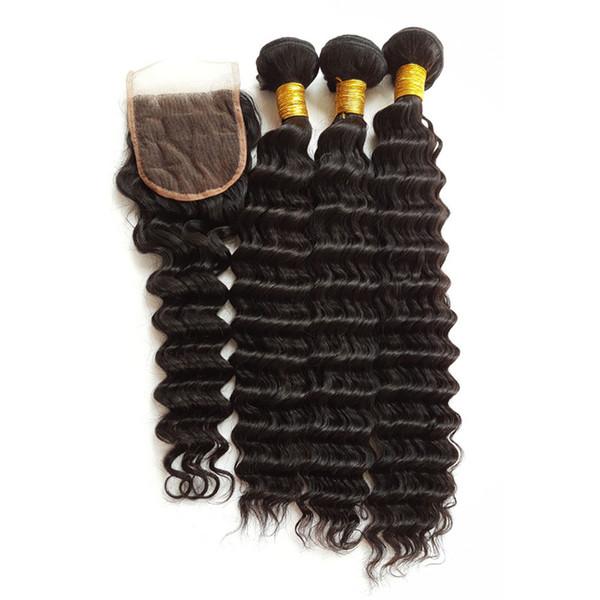 Bakire insan saçı online derin dalga örgü saç Satın Tam sonu, paket başına 100g perulu derin dalga saç