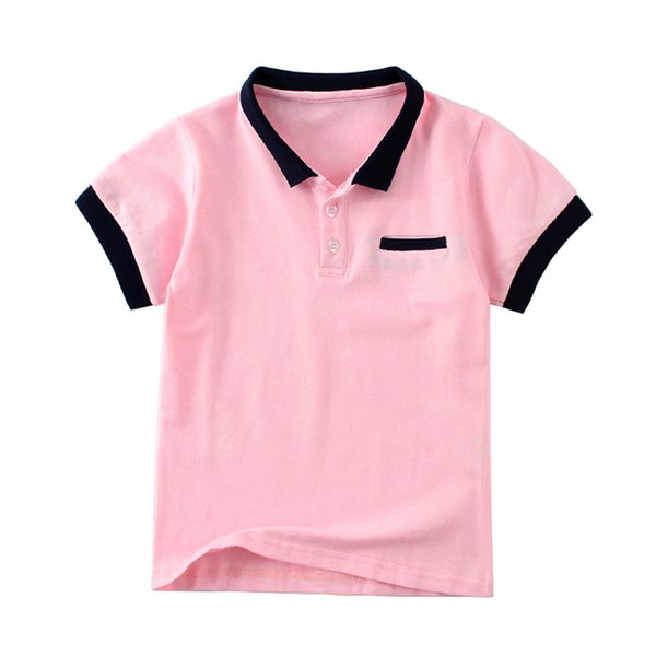 Mudkingdom Boys Polo Shirt Cotton Kids Camisa Polo Candy Color Turn -Down Collar Button Summer Tees Children Clothing
