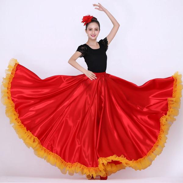 9966833ff Compre Traje De Baile Español Para Mujer Vestido De Flamenca Falda Española  De Flamenco Falda De Danza Del Vientre Ropa A $76.24 Del Blueberry16 | ...