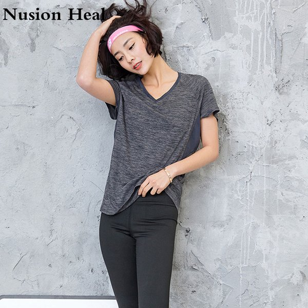 Sexy Mesh Breathable Fitness Yoga Shirts Tops Women Quick Dry Fitness Sports T Shirt For Gym Running Tops Female Sportswear S-2X