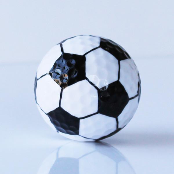 9d9cab88e0011 Envío gratis 6 unids   lote color de fútbol pelota de golf de dos capas  pelotas