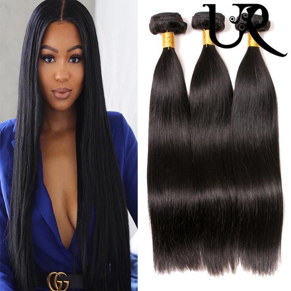Peruvian Straight Human Hair Extensions 3/4 Bundles Malaysian Brazilian Filipino Virgin Remy Hair Weave Silky Straight Dyeable 8inch-28inch