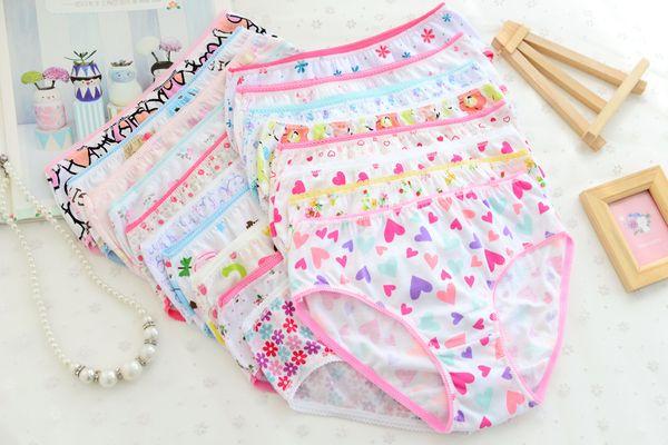Children panties cartoon baby Girls Briefs panties brief 12pcs/lot soft children kids girls floral bottoms pants briefs shorts underwear