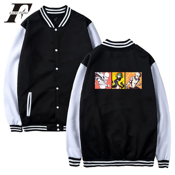 306a930982 2018 Anime One Punch Cotton Baseball Jacket Bomber Jacket Hoodie  Sweatshirts Cosplay Winter Jacket Coat Sweatshirt Spring Jackets Leather  Jacket Men ...