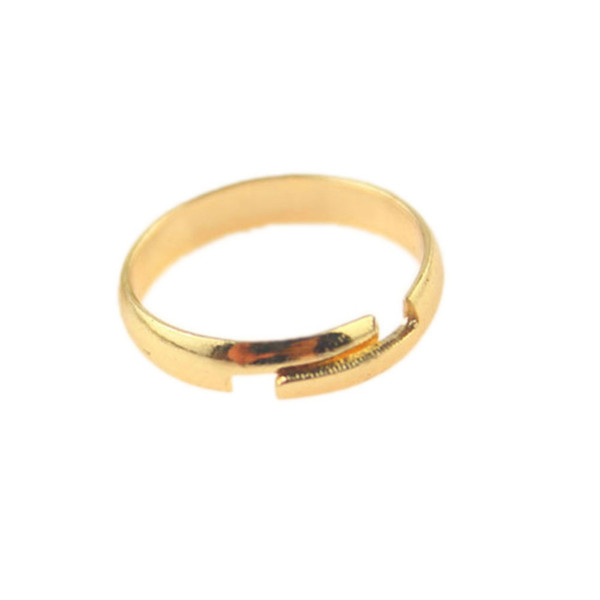 whole saleNew Smooth Foot Ring Standard Inner Diameter 1.4cm Color Gold/ Silver Plated Drop Shipping for men/women