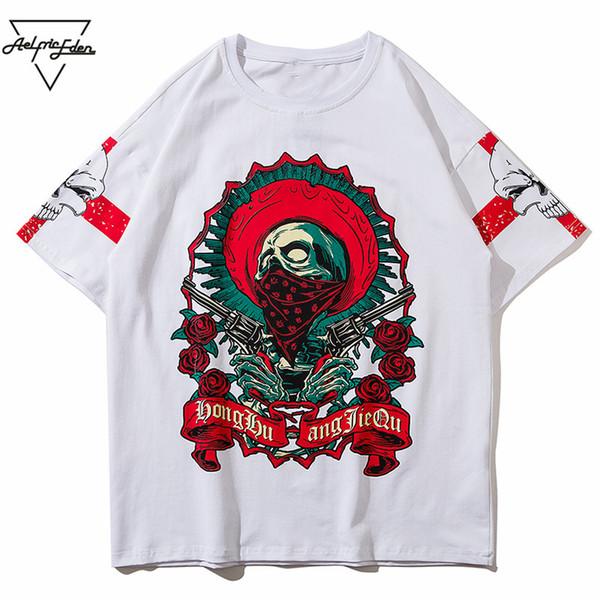 Aelfric Eden T-shirt Dos Homens Dos Desenhos Animados 3d Crânios Impresso Estilo Punk 2018 Ocasional Do Verão de Manga Curta Partido Rock Tshirt Streetwear OF027