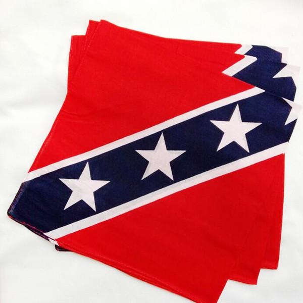 55*55cm Confederate Rebel Flag bandannas do-rags Civil War Flag Bandana Headband For Adult Bandanas National Polyester Cotton 2018