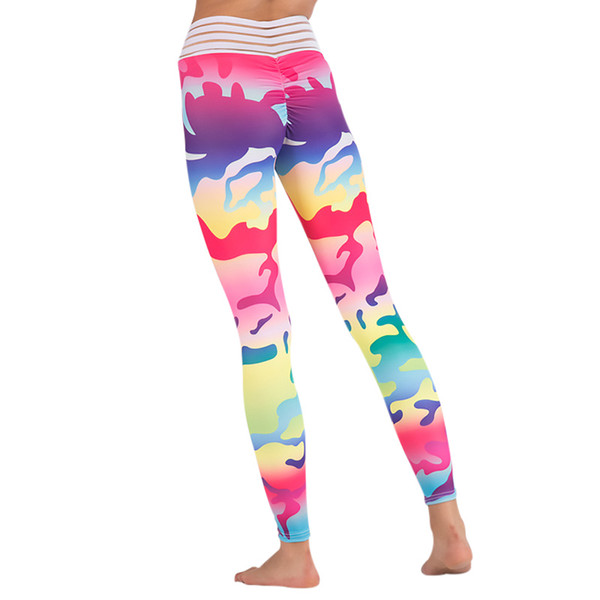 Women Yoga Pants High Waist Leggings Camouflage Print Sexy Female Sport Clothing Workout Breathable Sportswear Hip Push Up Pants