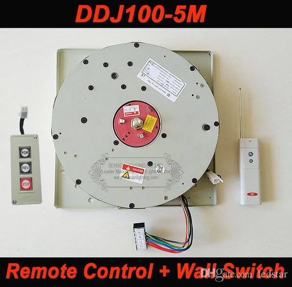 DDJ100 5m Auto Remote-controlled Hoist Chandelier Hoist lighting lifter Electric Winch Light Lifting System Lamp Motor with Wall Switch