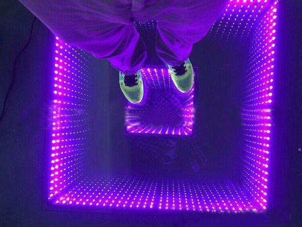 Свадебные вечеринку диско эффект 3D танцплощадка Сид Сид SMD5050 RGB 3 в 1 бесконечная двойная Бездна зеркало красочный танцпол LLFA