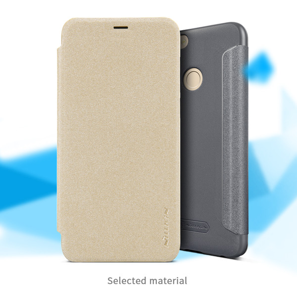 reputable site 48675 03cd2 For Huawei P Smart Case Huawei P Smart Case NILLKIN Sparkle PU Leather Flip  Cover Plastic Back Cover Leather Phone Housing Customize Cell Phone Case ...