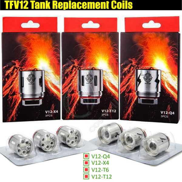 TFV12 V12-T12 V12-X4 V12-Q4 T6 Replacement Coils TFV Prince Tank Atomizer Rebuildable Coil Head 0.15ohm Quadruple core e cigratte Vape vapor