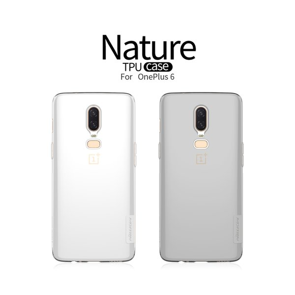 best website 98d10 5e9f5 Oneplus 6 Case TPU Oneplus 5T Case NILLKIN Nature Transparent Clear Soft  TPU Luxury Back Cover For One Plus 6 5 5T 3T Cell Phones Cases Custom Cell  ...