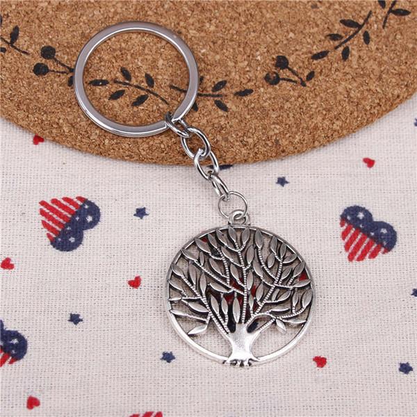 New fashion key chain tree 38mm pendant DIY male jewelry car key chain Holder Jewelry Gift Souvenirs
