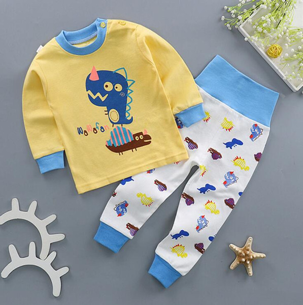 pajamas kids pajamas for girl Baby winter clothes for boys Cotton plus cashmere suit High waist guard suit wt1745