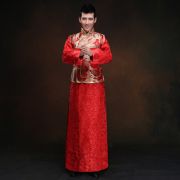 mens white tunic chinese red wedding dress traditional chinese oriental clothing for men tang suit suits tunic jacket shirts