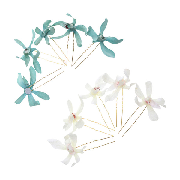 10 Pieces Fabric Flower Hairpin Wreath Wedding Bridal Hair Stick Hair Pin DIY Hair Jewelry Accessories