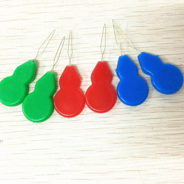 Wholesale plastic needle finder lead, durable, strong gourd-shaped lead, cross stitch lead batch