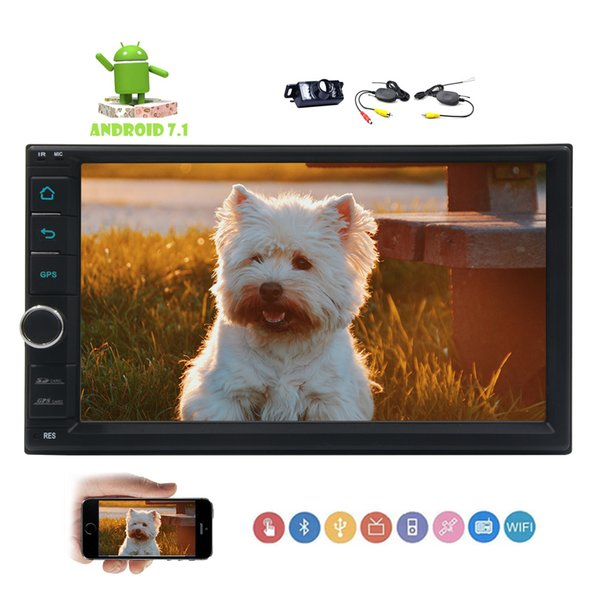 EinCar Android 7.1 Nougat Octa-core 7'' Full Touch-screen Universal Car Video NO dvd Player GPS Navi 2Din Car Stereo Navigation Head Unit