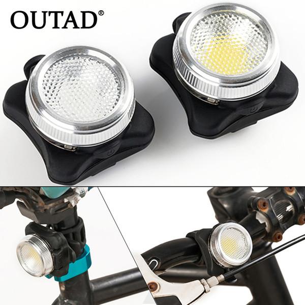 OUTAD Ciclismo Bicicleta Luz de Advertencia de la Bici COB LED Cabeza delantera Clip de Cola Trasero Ultra Brillante USB Lámpara Recargable Envío de la gota