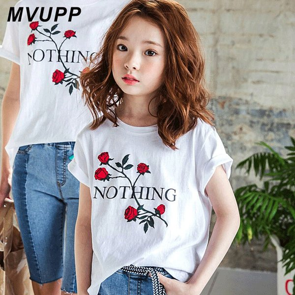 mother daughter tshirt family look clothes matching oufits floral rose mommy and me mom mum mama baby girl clothing dresses tops