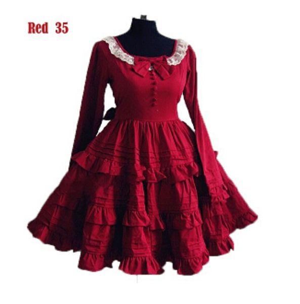 A10 Wholesale-Free Shipping Women Classic Sweet Lolita Dress Halloween Cosplay costume party punk lolita dress customized
