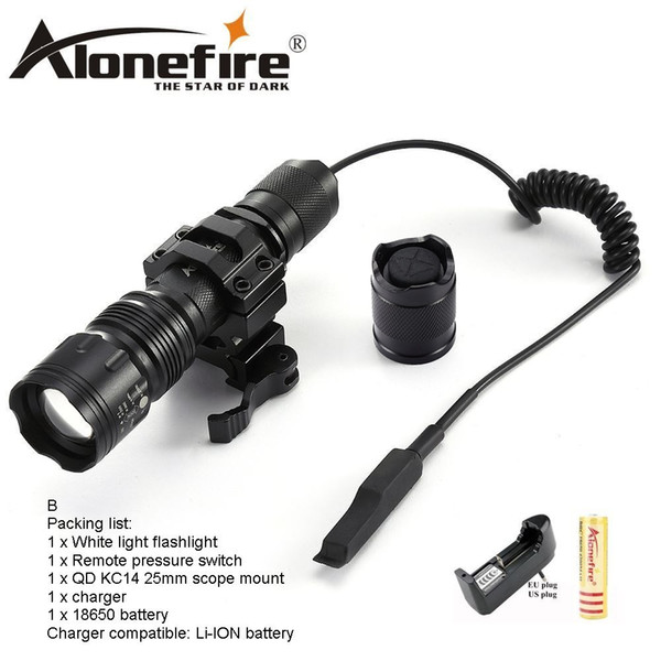 AloneFire TK104 XM- L2 LED Tactical flashlight 5mode Zoom Aluminum Outdoor Camping Torch lamp For Hunting 1x 18650 battery