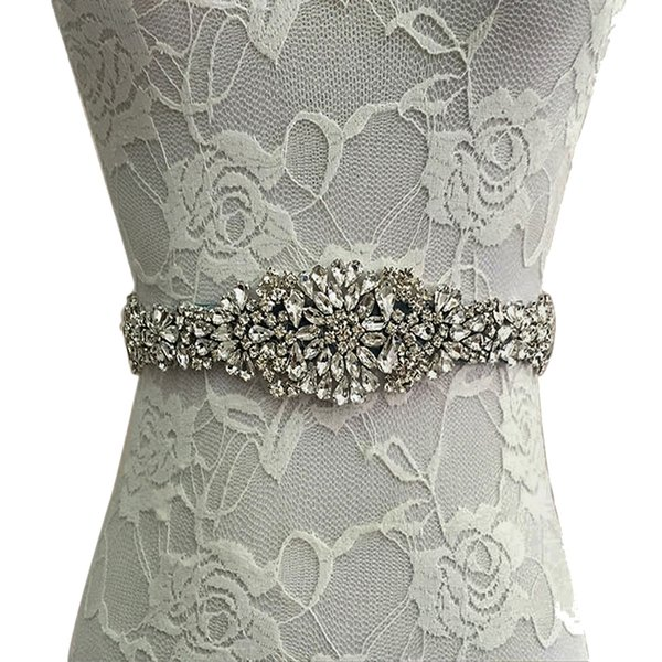Crystal Bridal Bride Luxury Female Dress Strap Floral Dress Women Belts Diamond Waistband Girdle Headband for Wedding Party