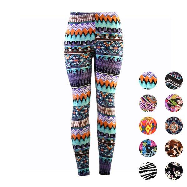 Wulekue Digital prints Leggings For Women Casual Elasticity Skinny Printed Stretchy Pants Leggings Trouser legins calzas mujer