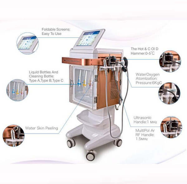 5 em 1 dermoabrasão hidro hidro facial jato de oxigênio pele hidratante máquina de injeção de oxigênio facial