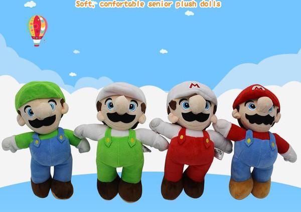25cm Super Mario Bros Luigi Yoshi Soft Plush Toys Cosplay Animal Dolls Toys Luigi Plush Doll Stuffed Toy Best Gifts 4 design