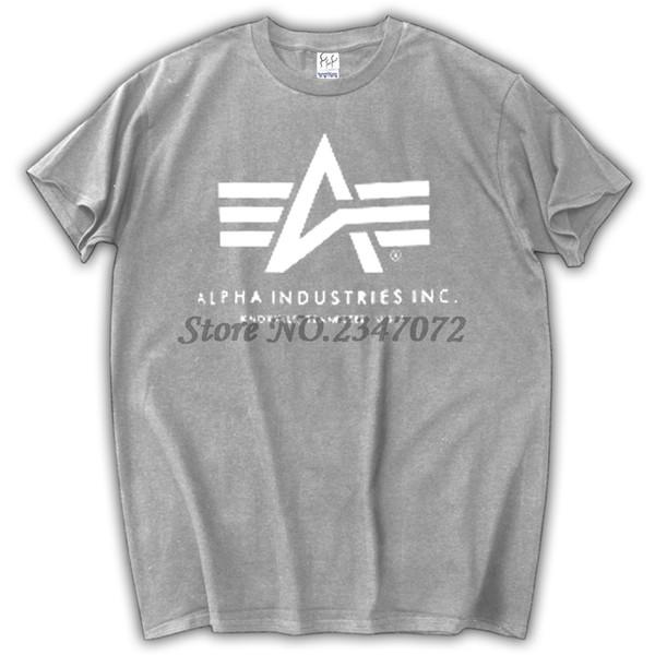 21caf7c6a538f3 Herren T-Shirts Mode 2017 Alpha Industries T-Shirt Baumwolle kurzen Ärmeln T -