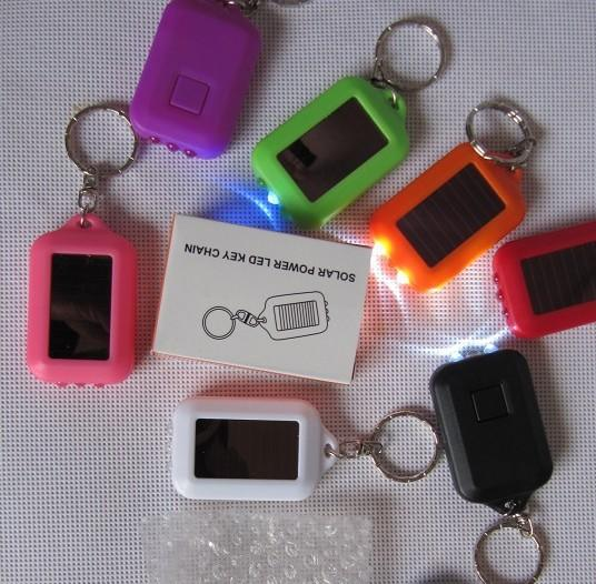 Solar energy is the key A mini small electric solar key light key chain manufacturer