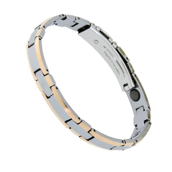 New Fashion 38 Tungsten Steel Hologram Bracelets Bio Power Healthy Magnetic Therapy Bracelet Germanium Bracelet for Women Men
