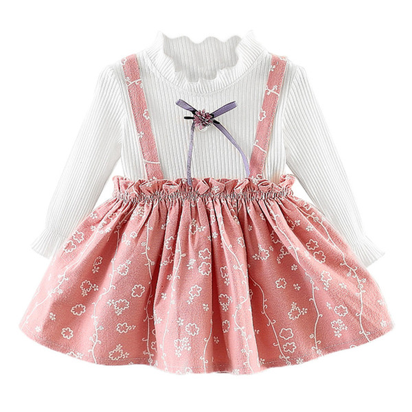 a32c6df6be 1St Birthday Party Kids Baby Girls Dress Toddler Kids Girls Long Sleeve  Flower Print Princess Dresses