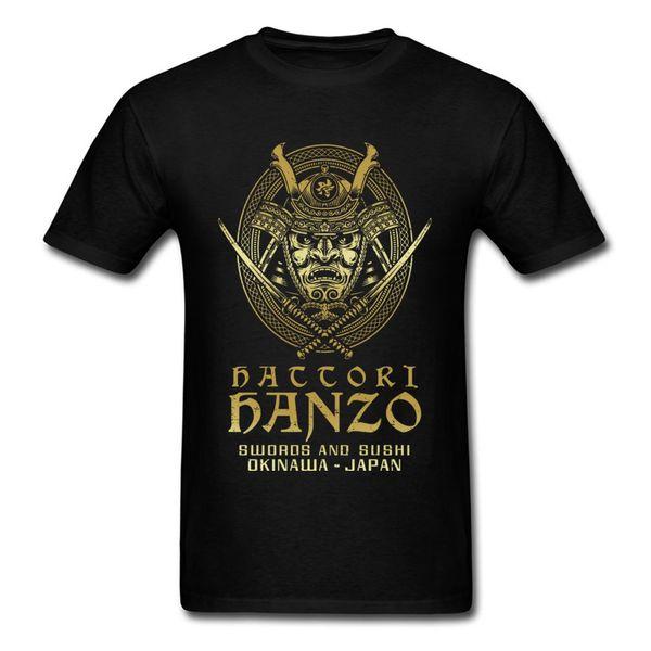 Hattori Hanzo 2018 Männer Cool Samurai T-shirt Schwerter Und Sushi Cartoon Design Punk T-shirt Okinawa Japan Chic Tops