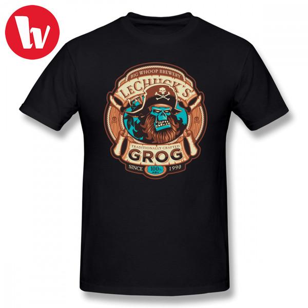 Ghost Pirate Grog T-shirt Cartoon Druck T-shirt Männer Sommer Lustige Baumwolle T-shirt Männlich Kurzarm Grafik Casual T Shirts 2018