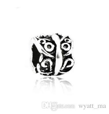 Mix 8 Style Big Hole Loose Beads charm Pendant For Pandora DIY Jewelry Bracelet For European Bracelet & Necklace Handmade