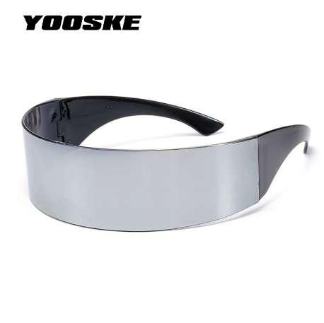 f50bee961c9 YOOSKE Funny Futuristic Wrap Around Monob Costume Sunglasses Mask Novelty  Glasses Halloween Party Party Supplies Decoration