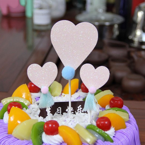 2 Styles Heart Shaped Series Paper Cupcake Topper Wedding Decoration Centerpieces Kitchen Accessories Home Decor Xmas Party Supplies
