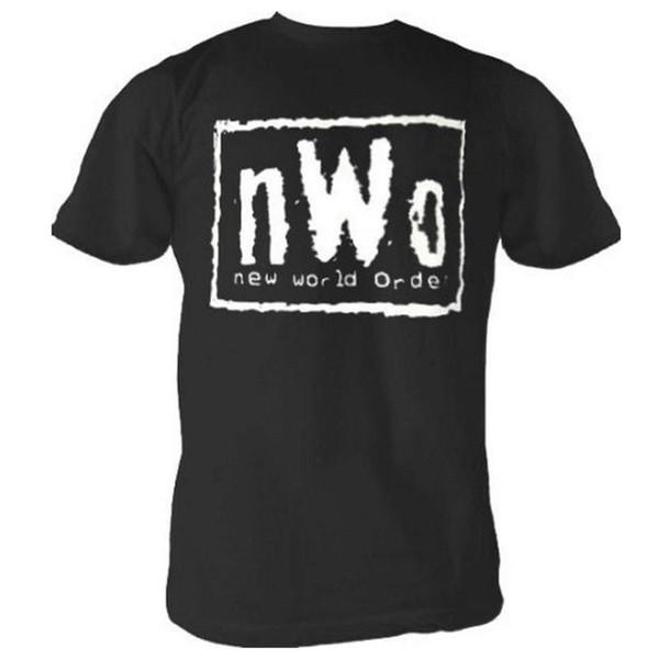 Adult Mens nWo New World Order Logo Wrestling Black Short Sleeve T-shirt TeeFunny free shipping Unisex Casual gift