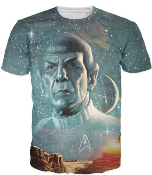New Fashion Summer Style Tops Live Long and Prosper T-Shirt Star Trek Spock Galaxy Tee Sexy T Shirt for Women Men Plus Size U302
