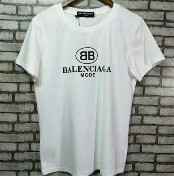 Ícono de camiseta camisetas de hombre camisetas de calle marca de la marea de manga corta cuello redondo suelta de algodón de manga corta camisetas personalidad B B camiseta