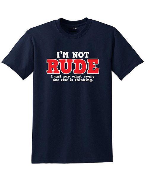 Печать футболка летний стиль мода с коротким рукавом печатная машина круглый вырез я не груб, я просто говорю футболки для мужчин
