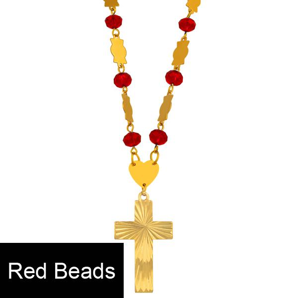 Red Beads 63cm Chain
