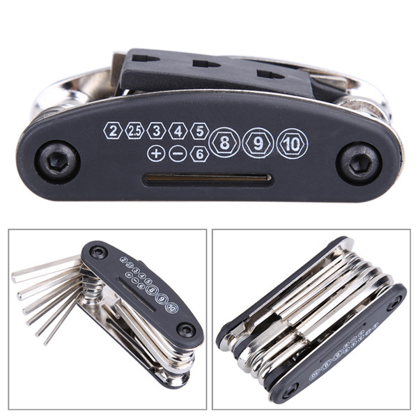 15 in 1 Bike Bicycle Repair Tool Set Hex Wrench + Screwdrivers + Nut Tools + Hex Key Bicycle Repairing Hand Tools Bicicleta