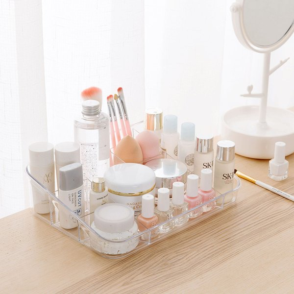 Large Capacity Jewelry Cosmetic Storage Box Clear Transparent Makeup Organizer Box Lipstick Plastic Box Organizador De Maquiagem