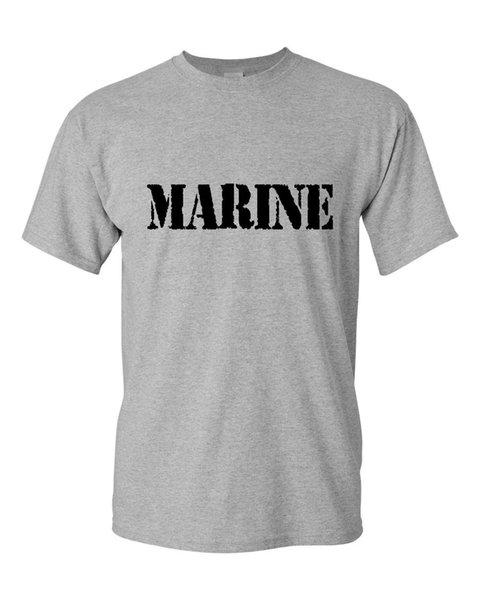 Marine T-Shirt Militar Veterano Pow Mia Patriota Dos Homens T-Shirt T-Shirt Dos Homens do Menino Fresco Branco de Manga Curta Personalizado XXXL Equipe camisetas