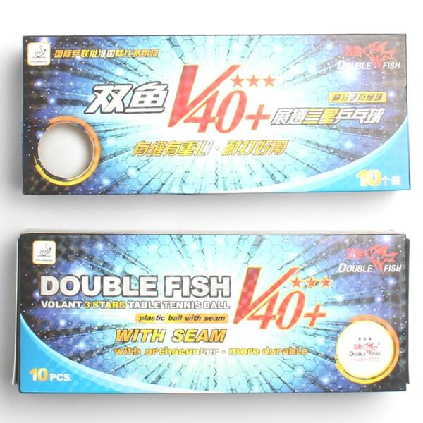 Ursprünglicher doppelter Fisch V40 + 3 Sterne Tischtennisbälle ABS-Polymerbälle hat neue materielle Großverkaufgesamtmenge 20balls wihte Naht