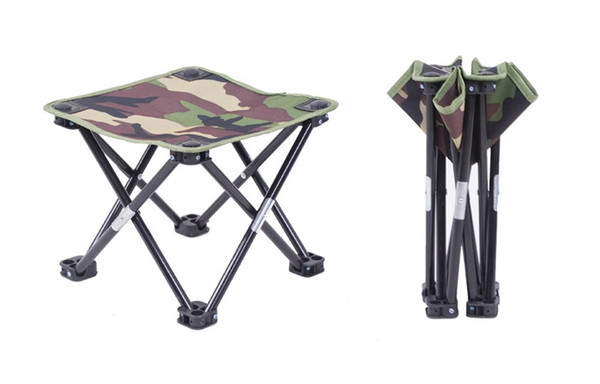 Astounding 2019 Portable Folding Stool Folding Camping Stool Outdoor Folding Chair Slacker Chair For Bbq Camping Fishing Travel 12X12X10 7Camouflage From Pdpeps Interior Chair Design Pdpepsorg
